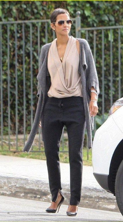 Halle Berry classic and trendy