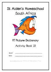 F - Alphabet Picture Dictionary Workbooks/Activity Books, Freebies, download one or download all #Homeschool #education