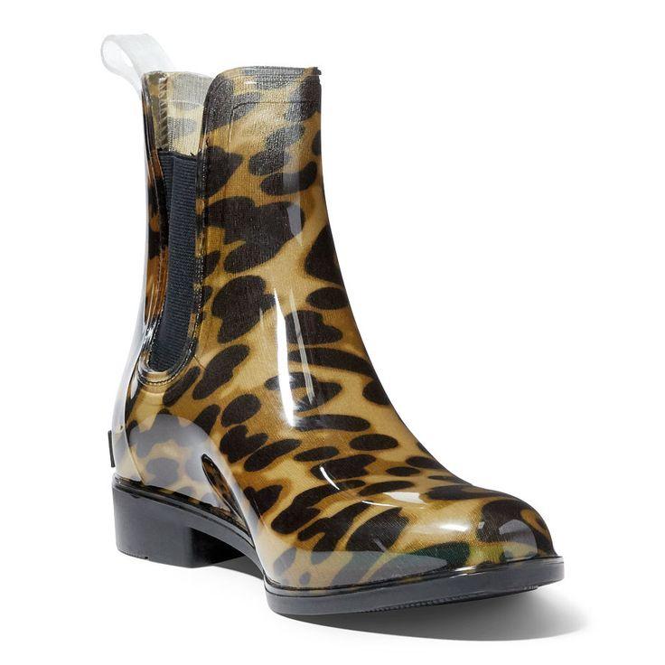 Stivali da pioggia Tally leopardati