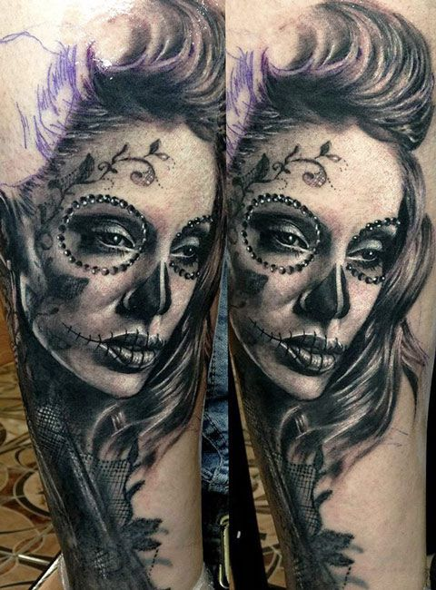 die besten 25 catrina tattoo ideen auf pinterest chicano tattoos la chicanos tattoo visage. Black Bedroom Furniture Sets. Home Design Ideas