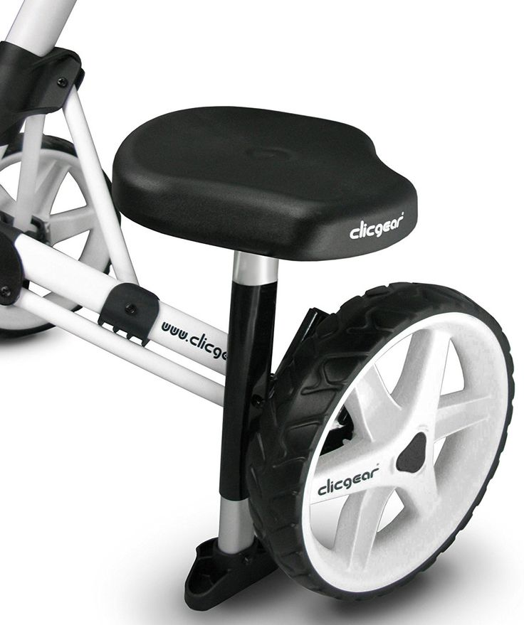 Enhance your golfing experience with one of these high quality golf accessory push cart seats by Clicgear!