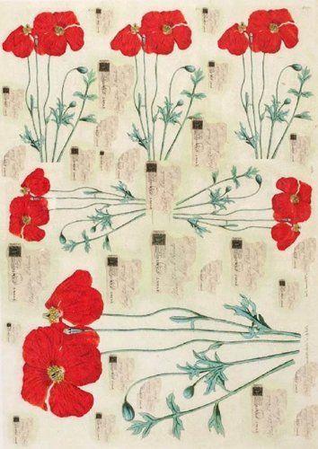 Papier de riz pour decoupage. Coquelicots Fleurs rouges. ... https://www.amazon.fr/dp/B01N9WWDSO/ref=cm_sw_r_pi_dp_x_XnZSyb83SK704