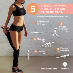 Olvídate del gym con estos 10 ejercicios que podrás hacer en la comodidad de tu casa. Empieza a tonificarte y a sentirte mejor.