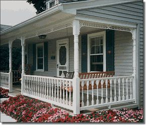 30 best images about home exteriors on pinterest for Victorian porch swing plans