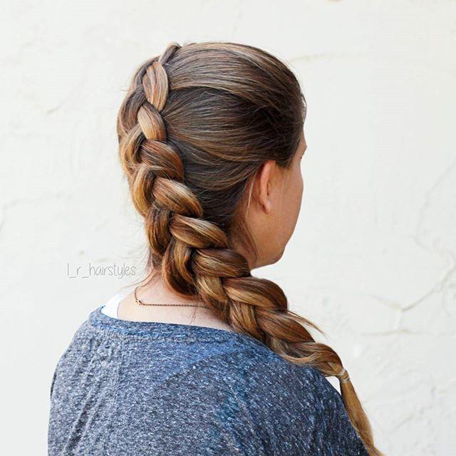 Hairstyles | DIY Hairstyles | Long Hair | Mom Hair | Hair Ideas | Braids | Braided Hair | Braided Hairstyles | Hairstyle Ideas | Easy Hairstyles | Dutch Braid | Diagonal Dutch Braid | Pancake Braid