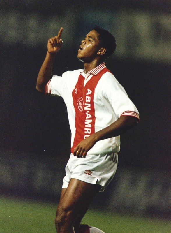 Patrick Kluivert.  Played for Ajax for a long time. We have a lot of great Surinam soccerplayers