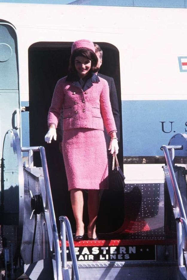 "While Chanel didn't actually construct the suit, the design house did reportedly provide the fabric, buttons, and trim to make it. Chez Ninon merely assembled the suit in a process called ""line for line."" 