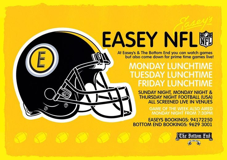 NFL FOOTBALL IS BACK! . . Make Easey's your home of NFL. We will be showing games at @thebottomendpub and in Collingwood with killer food deals and weekly specials. . . Today the Pats and the Chiefs kick off the season! . . #nfl #nflmelbourne #usasportsdownunder #football #americanfootball #patriots #gameday #season #sports #pub #beer #footballbeer #tailgate #easeys #easeyscbd #easeysbe #thebottomend