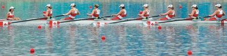 En l'absence de leurs grandes rivales américaines, Andréanne Morin et ses coéquipières du huit féminin ont décroché l'or à la Coupe du monde d'aviron de Munich, hier.
