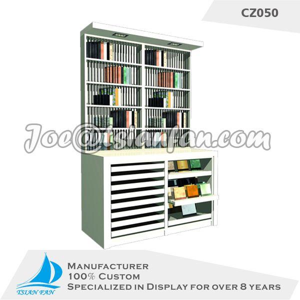 custom cabinet display rack/high quality cabinet showing shelf