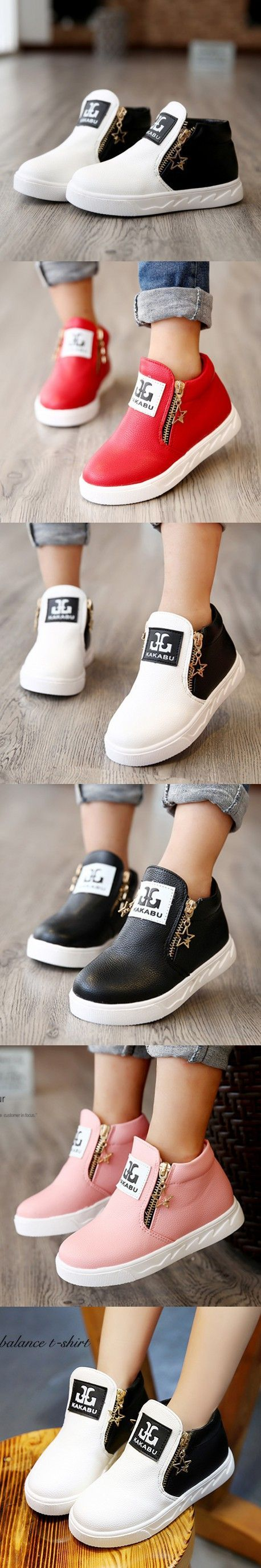 New Arrival Autumn Children Martin Boots Boys Shoes Girls Fashion Ankle Boots Kids Casual Shoes with Zipper $18.09