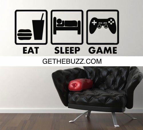 Controller Joysticks Video Games Eat Sleep Game Xbox Vinyl Decal – GetheBuzz