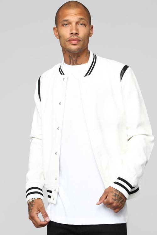 975a13327 The Rookie Varsity Jacket - White | hoodies/jackets in 2019 ...