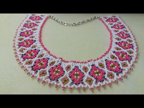 COMO HACER UN COLLAR DE ROCALLAS O MOSTACILLAS - YouTube