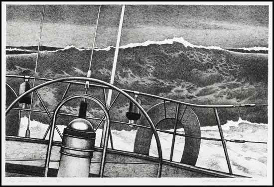 Big following sea by Christopher Pratt