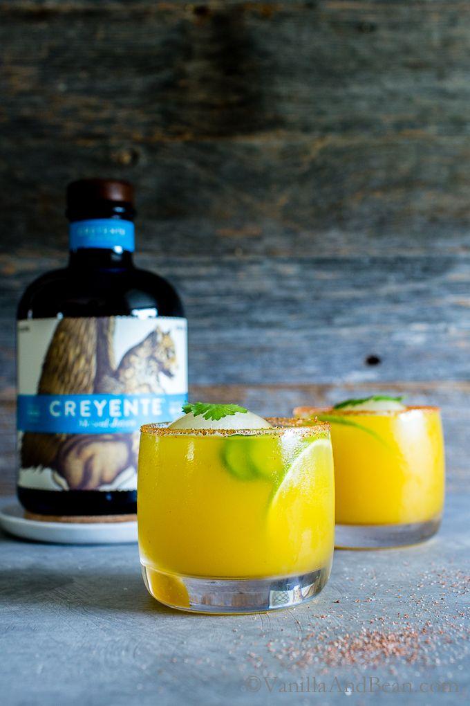 Fresh herbs, jalapeños, mango and smoky Mezcal Creyente Joven create a smooth, balanced elemental cocktail; the Mezcal Mango Smash