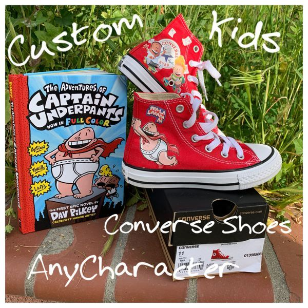 Captain underpants, Converse, Kids shoes
