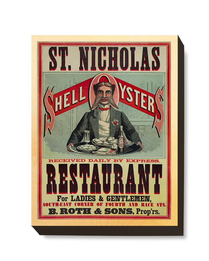 ADV 110 Advertising Art St. Nicholas Shell Oysters