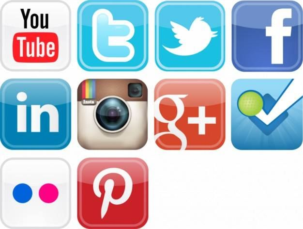Identify these #socialicons sequentially.