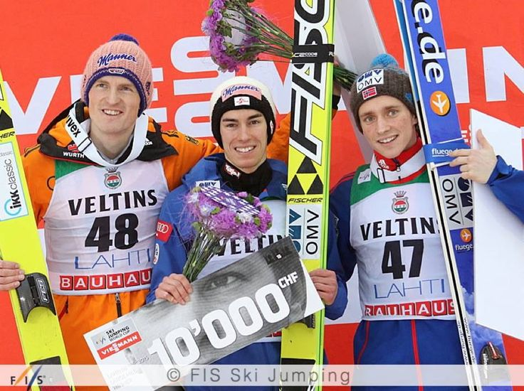 Stefan Kraft won the individual competition at the Salpausselän kisat / Lahti Ski Games, followed by Severin Freund and Anders Fannemel!
