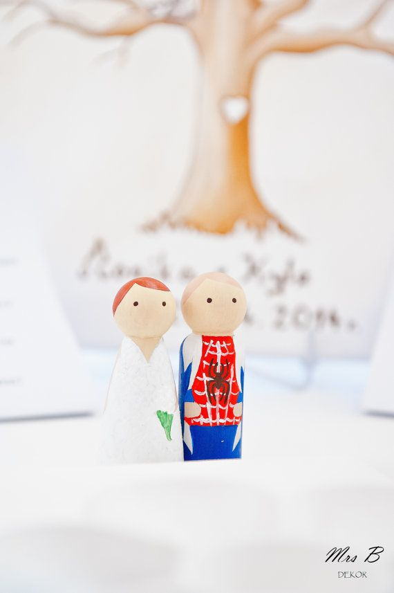 Personalised Cake Toppers! Be a superhero on your wedding day!
