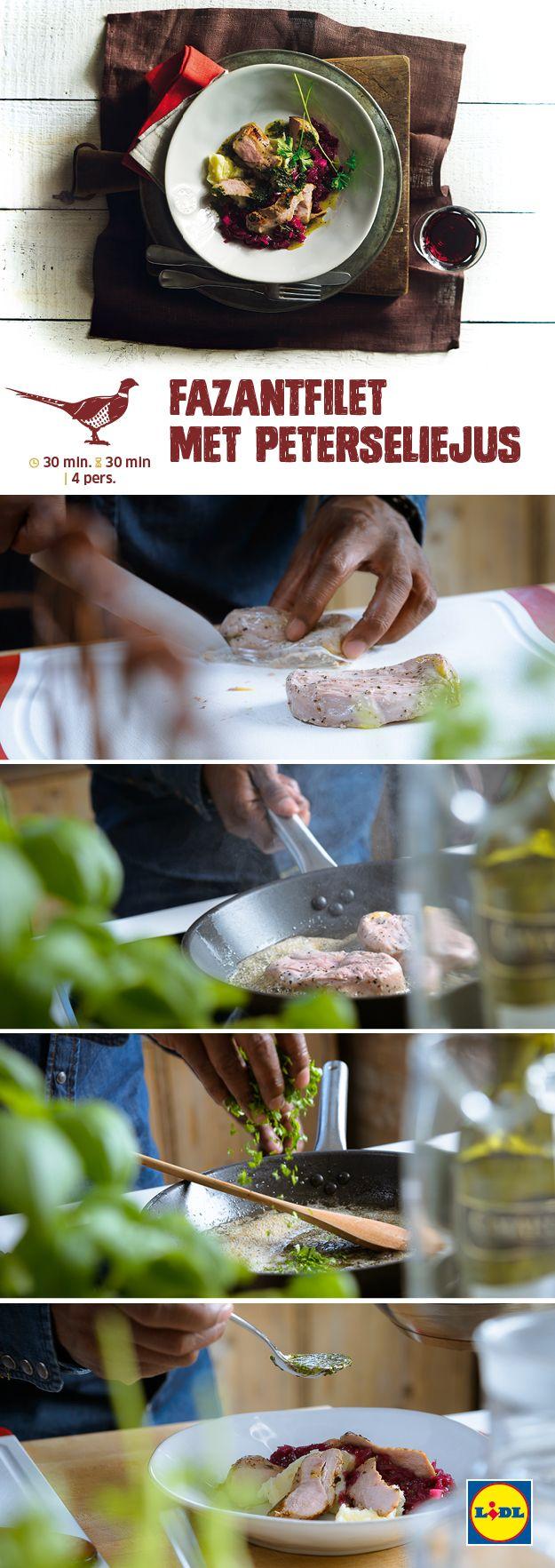 Deze fazantfilet met peterseliejus is gemakkelijk zelf te bereiden! Meer Wild & Wijn recepten ontdekken? Kijk op www.lidl.nl #wildenwijn #wijn #Lidl