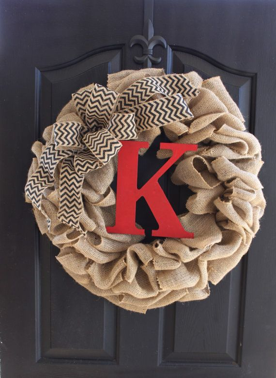 Burlap+Wreath+++Wreaths++Summer+Wreath+for+door++by+OurSentiments,+$78.00