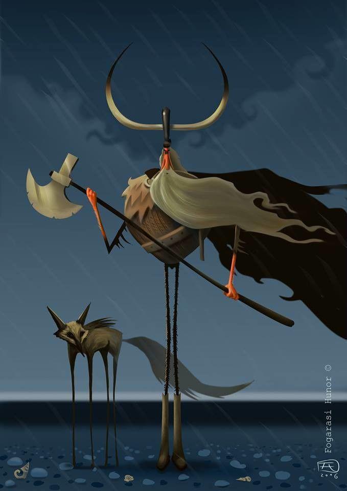 Viking , Hunor Fogarasi on ArtStation at https://www.artstation.com/artwork/BvbY6