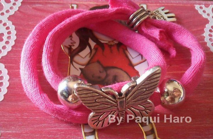 Pulsera trapillo mariposa