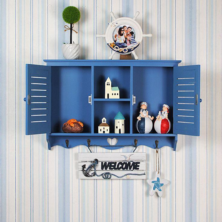 Новый средиземноморский жалюзи висит шкаф шкафы для хранения шкафчики 55 * 37 * 10 см, принадлежащий категории Шкафы для гостиной и относящийся к Мебель на сайте AliExpress.com | Alibaba Group