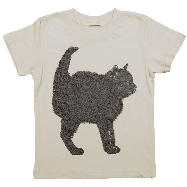 NATURAL CREW TEE - CHAT NOiR