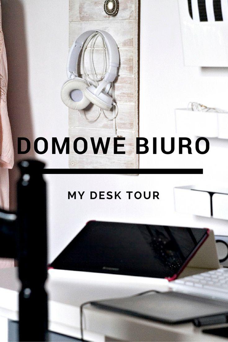 #diy #home #office #domowe #biuro #desk #tour #white #room #inspiration #black #furniture