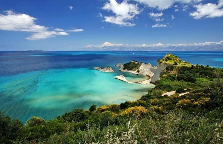 Cape Drastis in Corfu island, Greece