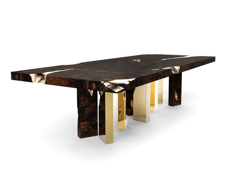 @bocadolobo created the Empire dining table wihich symbolizes generations of gatherings and decisions, in an ode to strive for a prosperous. Find more here: http://www.bocadolobo.com/en/limited-edition/tables-and-desks/empire/index.php