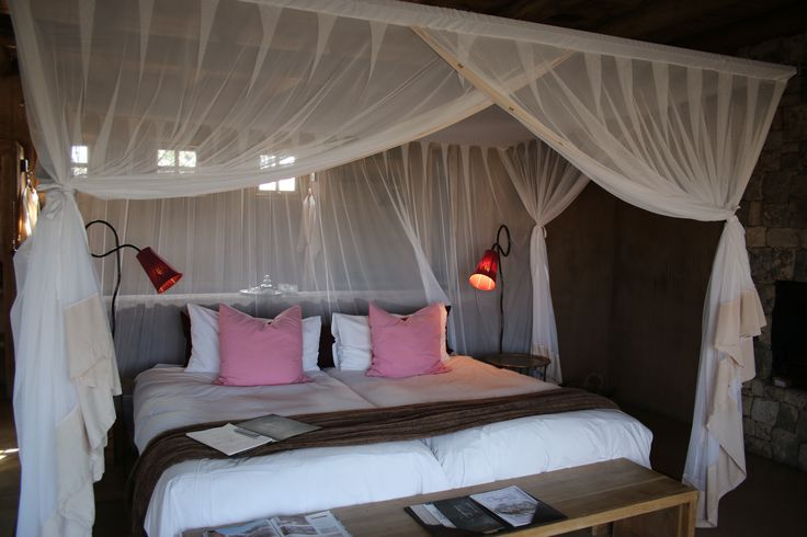 The bedrooms are divine and they overlook the bush.