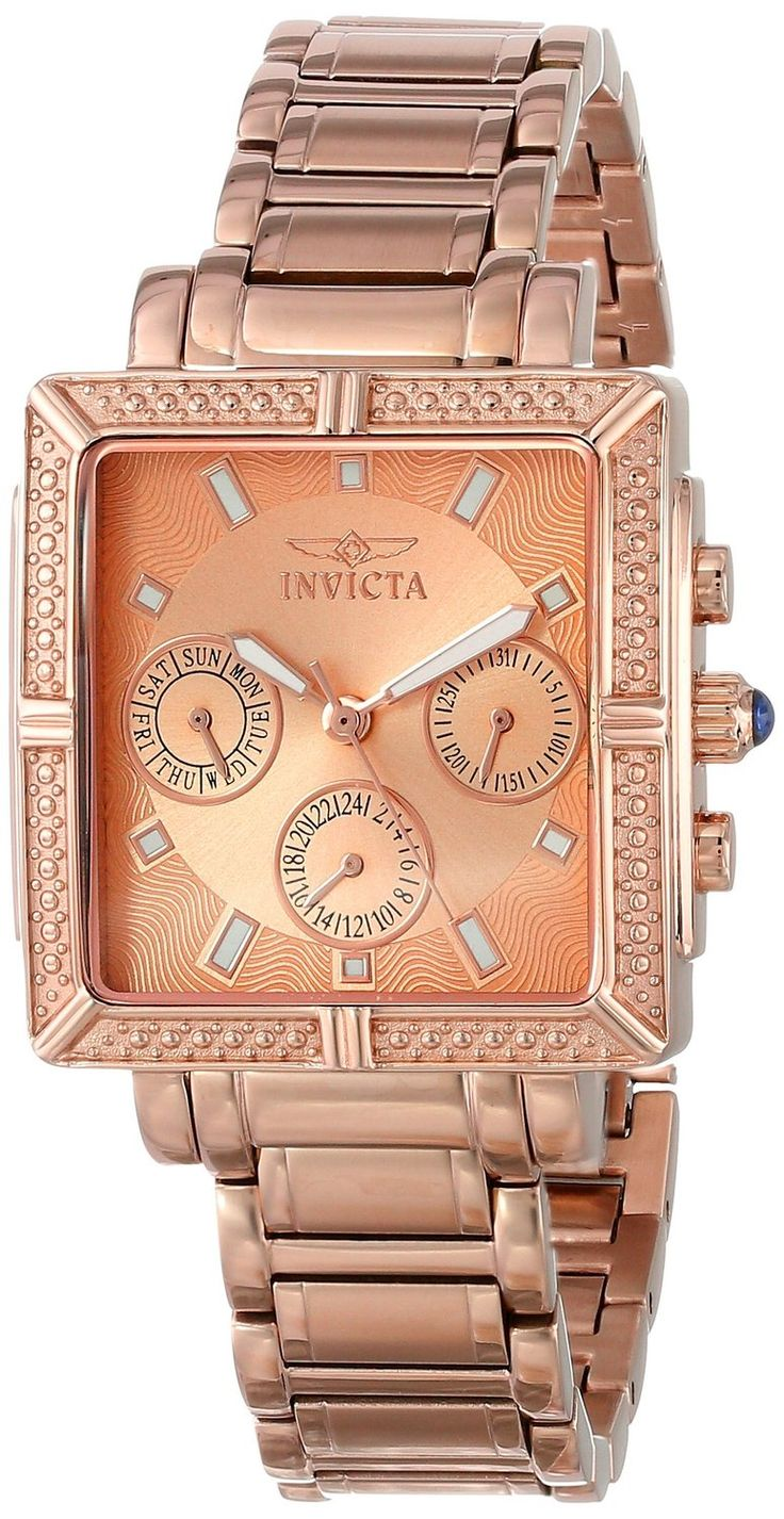Women's watches: Best Gold watches for women Invicta Women's 14872 Wildflower Rose Gold Dial 18k Rose Gold Ion-Plated Stainless Steel Watch