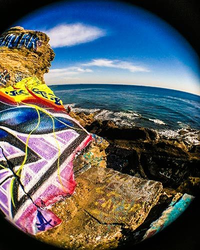 Graffiti slab in the Sunken City