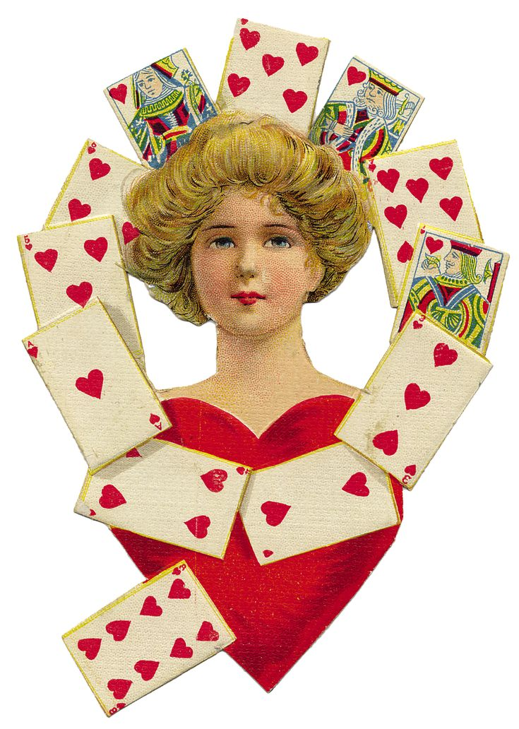 Graphics of the Day …Vintage Queen of Hearts