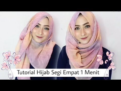 #60 Hijab Tutorial - Natasha Farani - Paris (Segi Empat) - YouTube