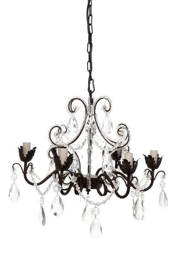 Chantilly chandelier 6 arm antique black