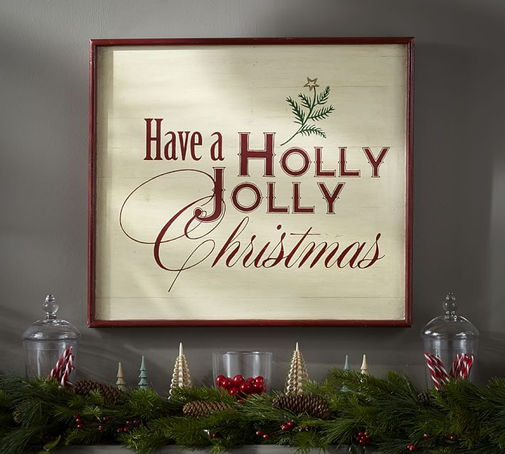 If you like it, please share it!I am thrilled to be participating in this blog hop featuring DIYChristmas projects. I knew right away that I wanted to make a PB inspired Christmas wall art. This HOLLY JOLLY SIGN WALL ART from Pottery Barn was the inspiration for my wall art. My wall art was made …