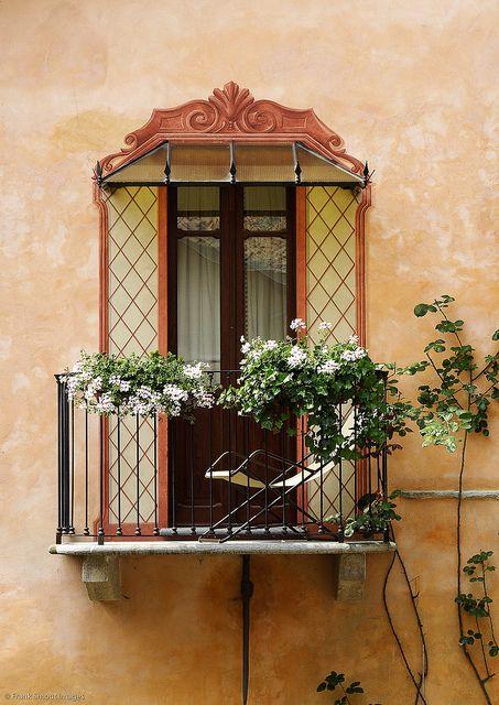 Balcony in Monforte d'Alba - Piemonte, Italy