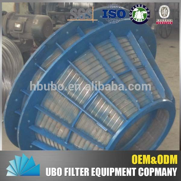 SS 304 316 wedge wire centrifuge screen basket for mining industry