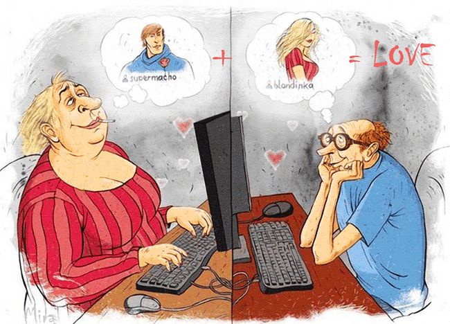 What is online dating animation