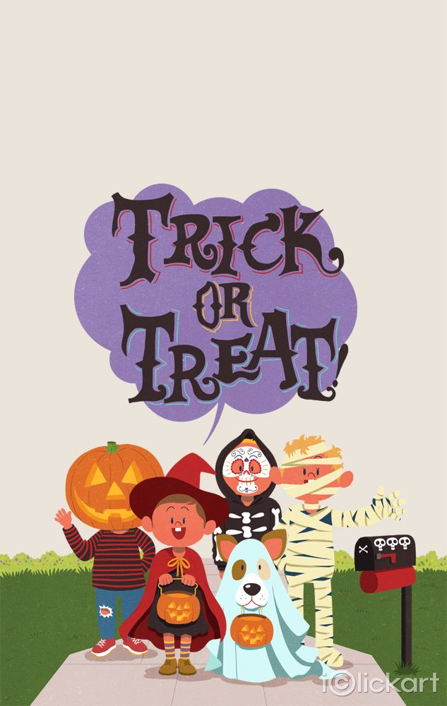 iclickart_npineTrick or Treat!!   #halloween #trick_or_treat #children #party #illustration #stockimages #npine #iclickart #click_your_heart