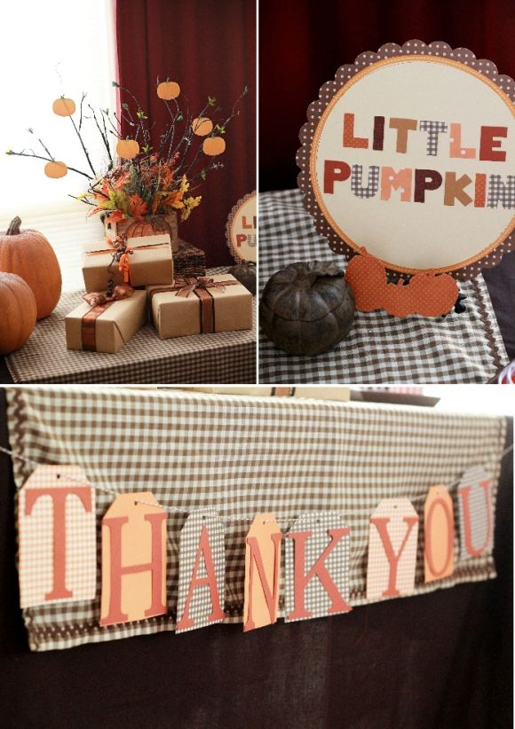 fall baby shower ideas | Check out all the gorgeous details below as captured by Sweet Rose ...