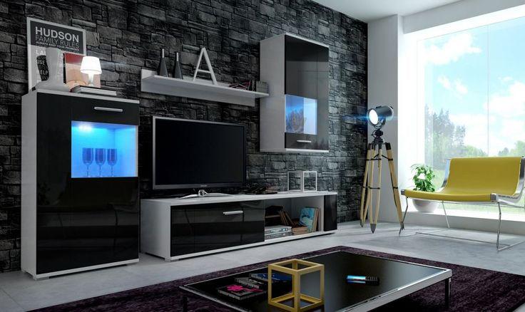 FOXY Magasfényű nappalibútor LED világítással - Fenyő és Bükkfa Bútorok a legjobb áron AKCIOS BÚTOR WEBÁRUHÁz