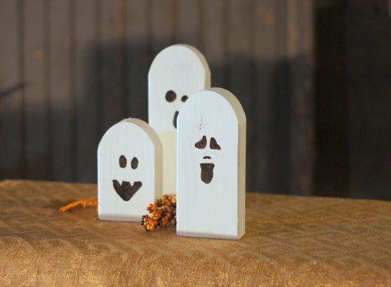 Halloween Ghosts - Rustic Halloween Decor - Primitive Ghost - Wooden Ghost - Primitive Halloween - Rustic Home Decor - Halloween Decor