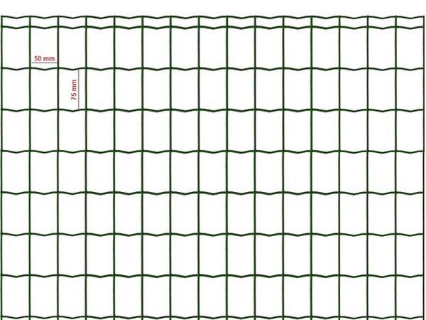 Siatka zgrzewana zielona 75x50mm/1,20m - rolka 20m