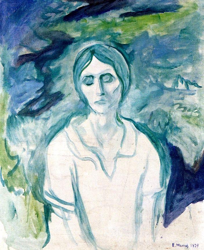 The Gothic Girl, 1924 by Edvard Munch (Norwegian 1863–1944)